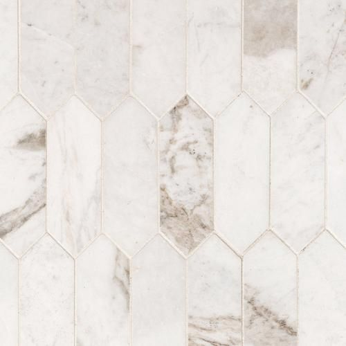 Bianco Orion Picket Marble Mosaic In 2020 Floor Decor Marble Mosaic Polished Marble Tiles