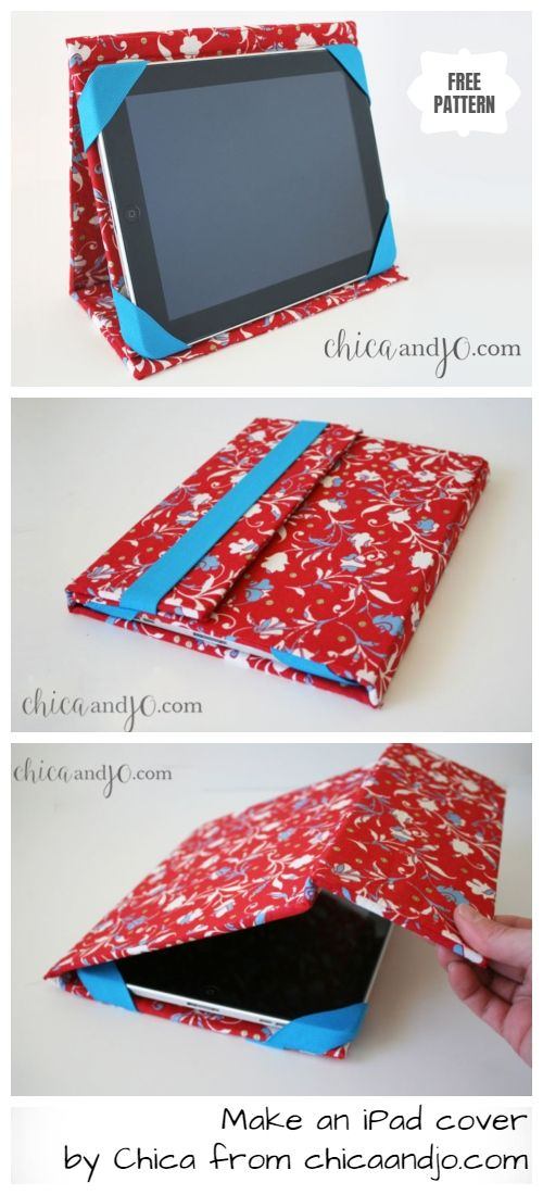 Diy Ipad Cover Stand Case Free Sewing Pattern Tablet Cases Diy