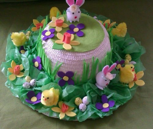 Easter bonnet springtime 500x420 easter bonnet for Easter craft ideas for young adults