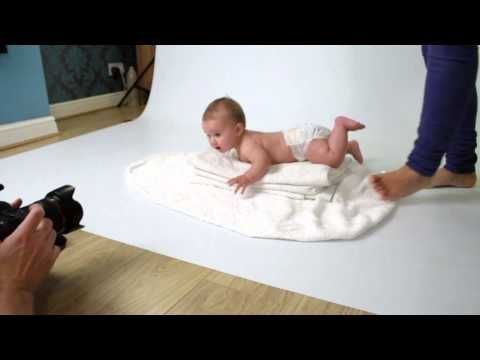 Newborn Photography Posing - behind the scene standing pose - YouTube