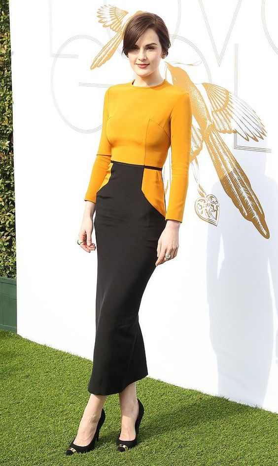 Michelle Dockery, style, fashion, awards season, golden globes, downton abbey, party, red carpet