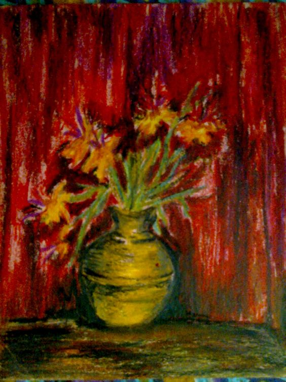 still life with pastel colors