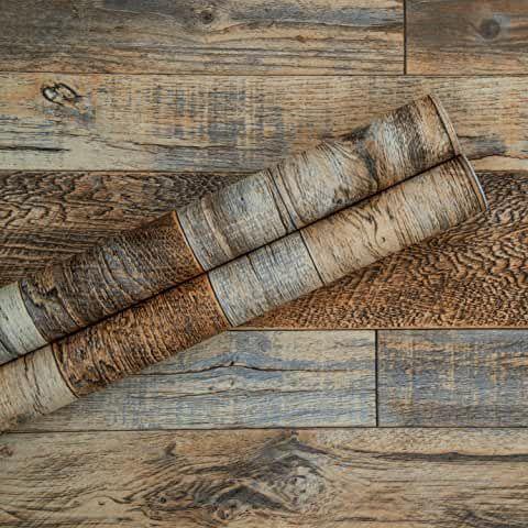 Amazon Com Wallpaper Peel And Stick Wallpaper Wallpapering Supplies Paint Wall Treat Tools Home Wood Plank Wallpaper Wood Plank Walls Wood Planks