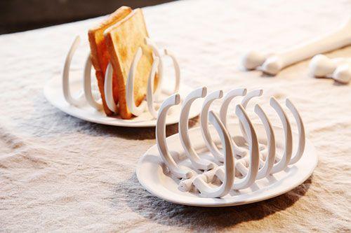 Super cool skeleton toast rack #kitchen #breakfast