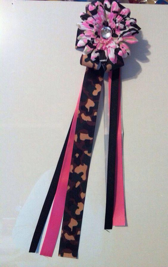 Various spirit ribbon ponytails on Etsy, $7.00