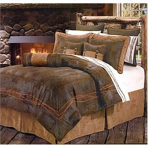 ranch barbwire chocolate western bedding comforter set super king size blanket linen ideas. Black Bedroom Furniture Sets. Home Design Ideas