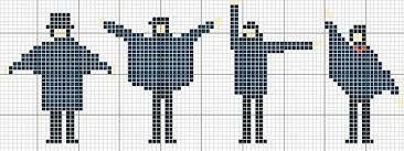 Resultado de imagen de patrones punto de cruz the beatles