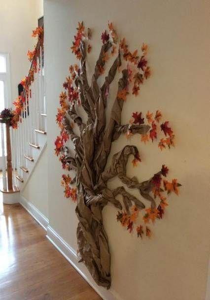 22 Ideas Paper Tree On Wall Fun Wall Tree Paper Tree Wall Christmas Tree Thankful Tree