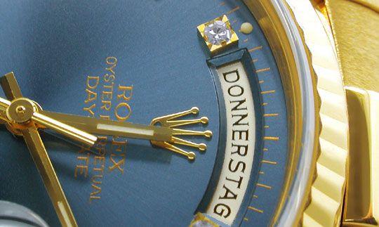 Foto 3, Rolex Day Date Automatik Diamant-Ziffern Geprüft Neuw.!, U1944