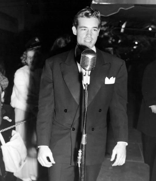 1945 Guy Madison at the premiere of - Spellbound