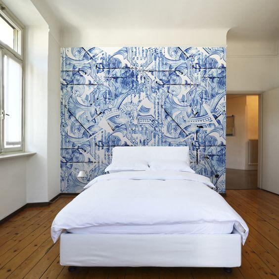 Hurter Designers Tapeten : Inspired by Portuguese Tiles – Wallpaper by Pedro Andrade, via Behance