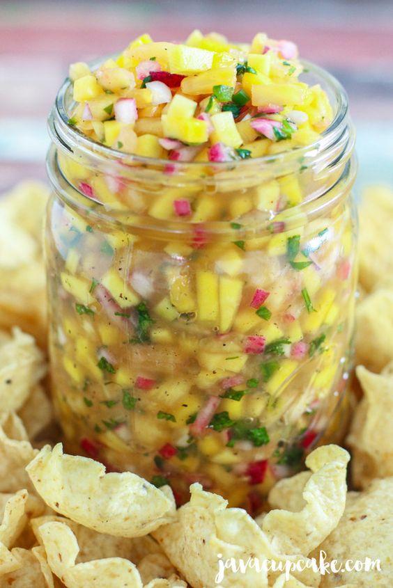 Dips y salsas frutales que amarás---Salsa de mango y piña |