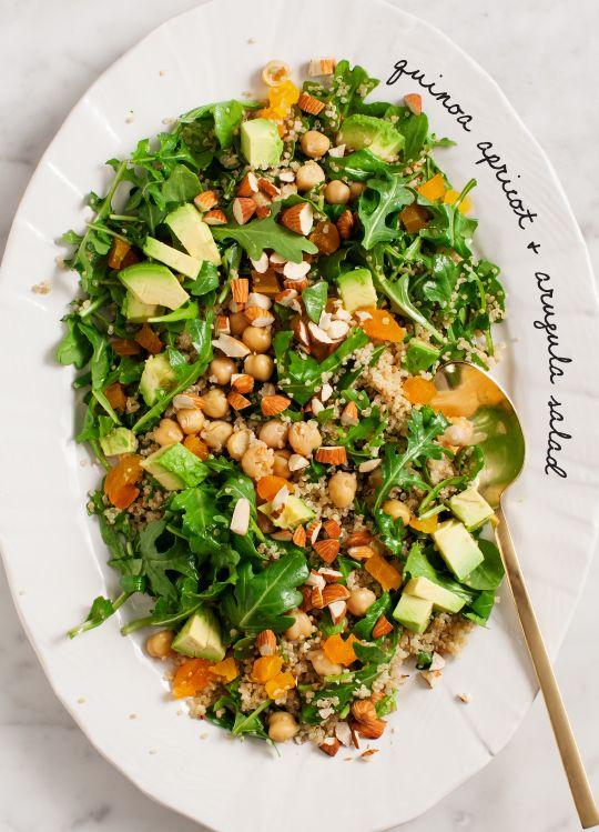 Quinoa apricot & arugula salad | Recipe | Salads, Arugula salad and ...