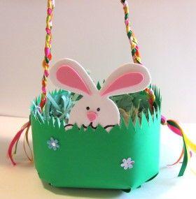 Canastas de Pascua en goma eva: Bunny Craft, Easter Ideals, Easter Crafts, Diy Craft, Easter Baskets, Easter Ideas