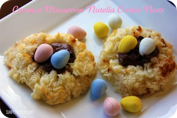 Coconut Macaroon Nutella Cookie Nests | Recipe | Coconut Macaroons ...