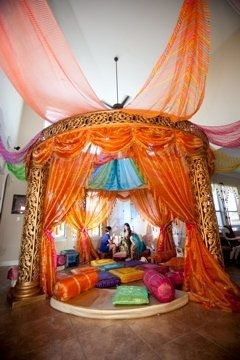 Sangeet decorations indian wedding decoration wedding for Sangeet decorations at home
