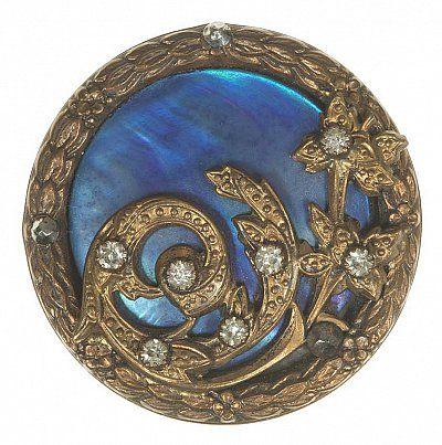 Bouton art nouveau vers 1900 m tal cisel verre strass les arts d coratifs paris - Les arts decoratif paris ...