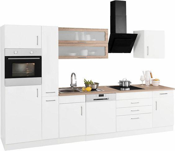 Held Möbel Küchenzeile mit E-Geräten »Utah«, Breite 330 cm Jetzt - küchenzeile 220 cm mit elektrogeräten