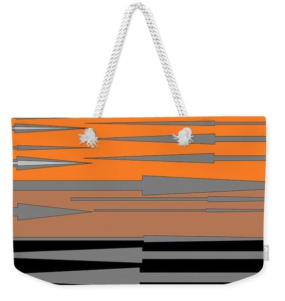 Weekender Tote Bag of 'Spear Thrower 5' by Sumi e Master Linda Velasquez.