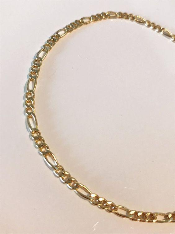 Anklet 18k Gold Filled Figaro Anklet Dainty Anklet Figaro Chain Anklet Figaro Chain Ankle Bracelet Gold Anklet Adjustable