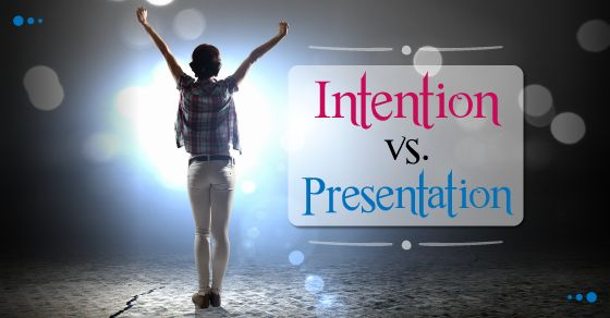 One of the issues in student artistic work (whether it be as a playwright, an actor or a director) is intention vs presentation. There is often a difference between what students intended to put on stage, and what they actually did.