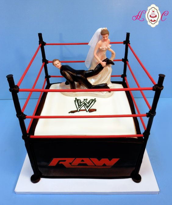 Mud Truck Wedding Ideas | WWE RAW Wrestling Ring Groom's Cake by Heavenly Confections, Athens ...