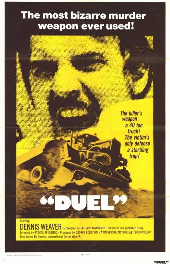"""Duel"" (1971) / Director: Steven Spielberg / Writers: Richard Matheson (screenplay), Richard Matheson (story) / Stars: Dennis Weaver, Jacqueline Scott, Eddie Firestone #poster"
