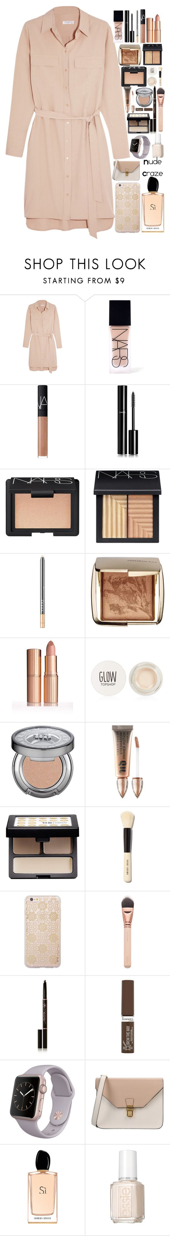 """""""Nude Craze"""" by chawy-mk ❤ liked on Polyvore featuring Equipment, NARS Cosmetics, Chanel, LORAC, Hourglass Cosmetics, Topshop, Urban Decay, Bobbi Brown Cosmetics, Sonix and Anastasia Beverly Hills"""