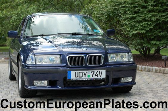 Custom German License Plate With Bayern Home Of Bmw