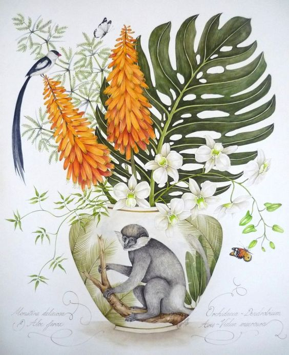 delicious monster plant watercolour painting - Google Search