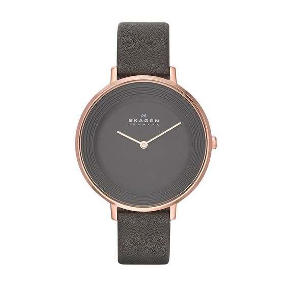 Skagen Damen-Armbanduhr Analog Quarz Leder SKW2216: Amazon.de: Uhren