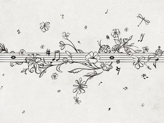 Carta da parati con motivi floreali MUSIK METRIK Collezione Life! 14 by Wall&decò   design Lorenzo De Grandis
