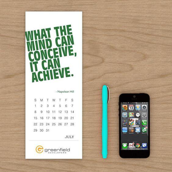 Greenfield Developers - Table Calendar