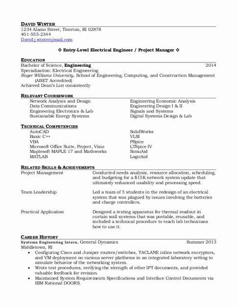 Entry Level Project Management Resume Inspirational Entry Level Project Manager Resume Samples In 2020 Engineering Resume Project Manager Resume Job Resume Samples