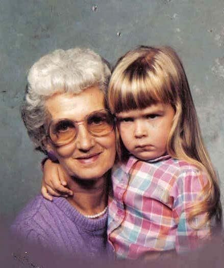 She always looked forward to spending time with Grandma. (submitted by Amber):