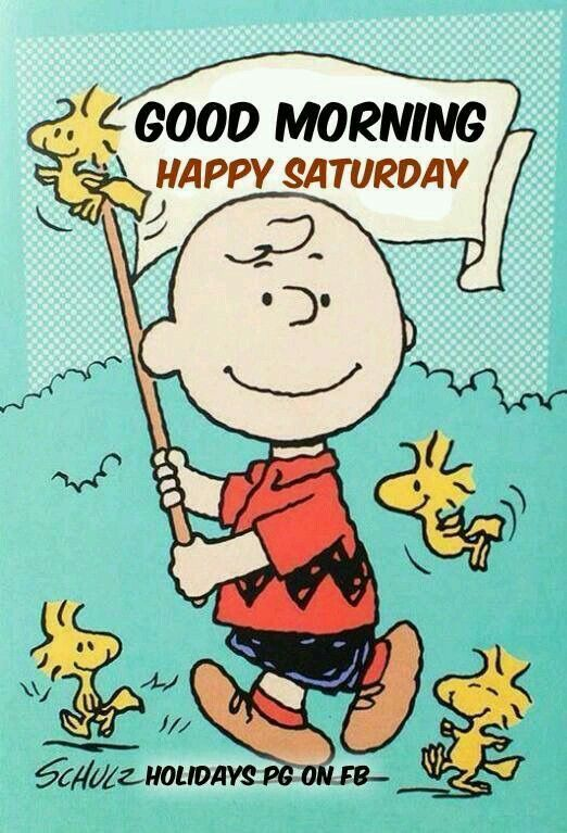Good Morning And Happy Saturday What Are Your Plans For The Weekend What Ever It Is Enjoy The Time Happy Birthday Charlie Brown Snoopy Birthday Snoopy Love