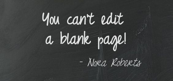 You can't edit a blank page! #quotes #authors #writers: