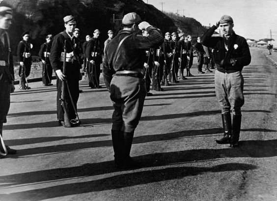 SPAIN. Basques. The Republican Army. 1936.