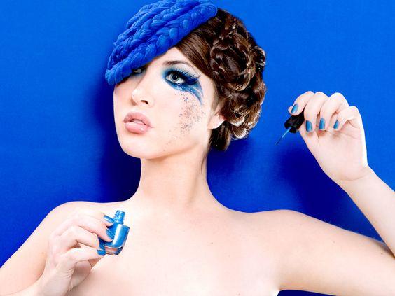 : Beauty Makeup, Fantasy Makeup, Halloween Makeup, Makeup Ideas, Blue Eye Makeup, Blue Eyes, Makeup Beauty, Beauty Strikes