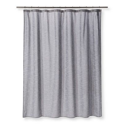 Woven Textured Grid Shower Curtain Black Project 62 Budget
