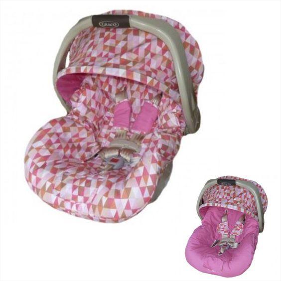 Mais detalhes de Capa para bebê conforto dupla face – Retrô – Larissa