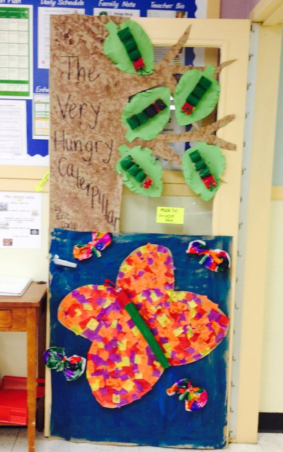 Butterfly Classroom Door Decorations : Door decor the very hungry caterpillar bugs and insects