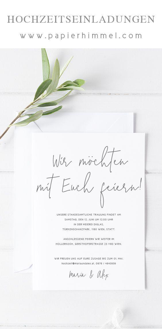 Hochzeitseinladungen Wwwpapierhimmelcom Hochzeitskarten Hochzeitsparade Romantische Kostenlos Hochzeitseinladung Karte Hochzeit Hochzeitseinladungen Diy