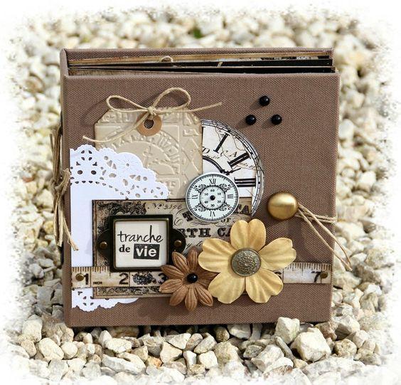 id e d co album de scrap pinterest boite carton bois et mini livres. Black Bedroom Furniture Sets. Home Design Ideas