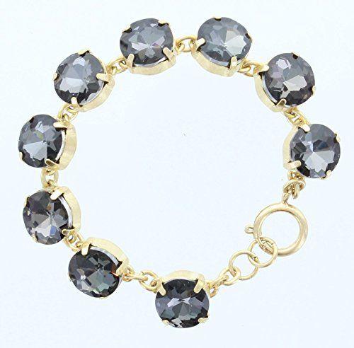 Black Diamond & Gold Crystal Bracelet. Bling Bling! Great for Valentines Day, Christmas, Anniversary or Birthday! ALX001 http://www.amazon.com/dp/B00MFXCD5U/ref=cm_sw_r_pi_dp_IODdub1PR976Y