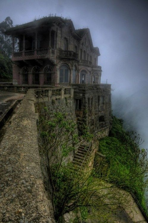 ghost-man-blues: Abandoned Gothic Mansion: The Jump, Favorite Places Spaces, Beautiful Places, Tequendama Fall, Abandoned Buildings, Abandoned Places