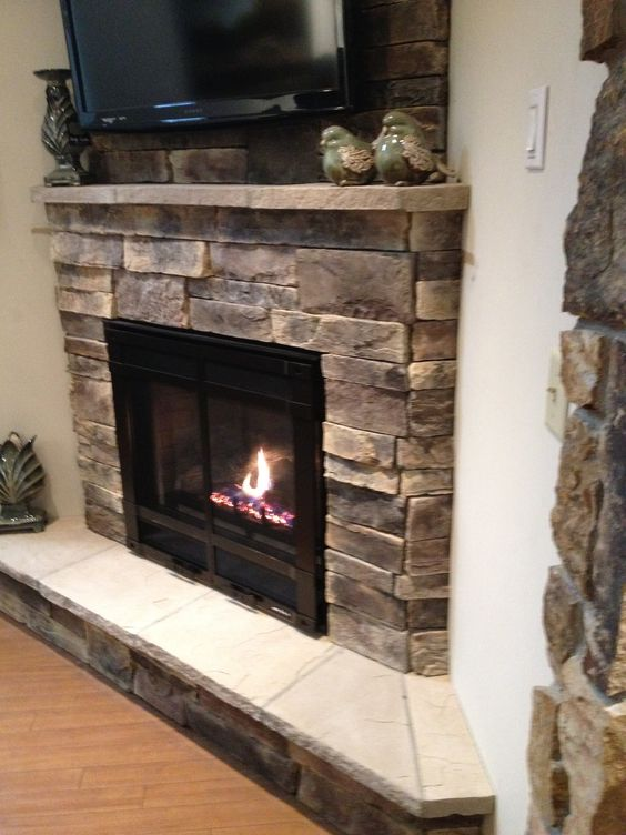 Side View Of Corner Fireplace Love The Sitting Area And