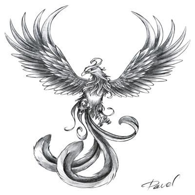 Phoenix Tattoo Designs For Girls-4