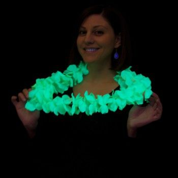 Hawaiiaanse fluo ketting BLACKLIGHT Blacklight-/Neonkleding