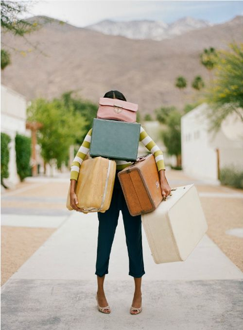 {maybe don't pack this much.... But hey! If the suitcases are this beautiful, maybe do!}: